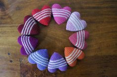 ::Crocheted Hearts::