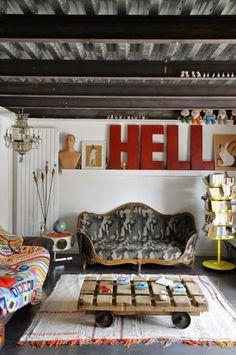 Inspirações: 22 salas de estar ecléticas