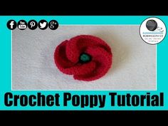 Crochet Poppy Design 3 of 3 Tutorial 500 Poppies Project - YouTube