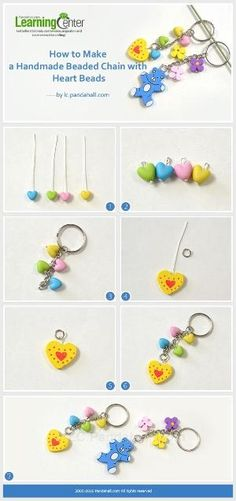 Tutorial on How to Make a Handmade Beaded Chain with Heart Beads from LC.Pandahall.com | DIY Jewelry & Crafts 2 | Pinterest by Jersica