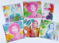 Gelli plate Magazine images transfer technique