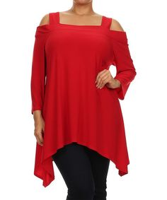 Another great find on #zulily! Red Cutout Sidetail Tunic - Plus by Come N See #zulilyfinds