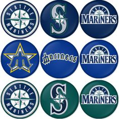 "Seattle Mariners MLB 1.75"" Badges Pinbacks, Mirror, Magnet, Bottle Opener Keychain http://www.amazon.com/gp/product/B00K4525IQ"