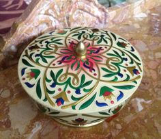 English Tin Trinket Box Container by VintageLoveAntiques on Etsy, $12.00