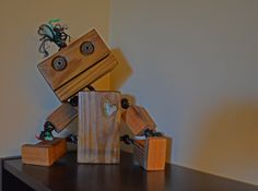 Wooden Robot made by Cleveritch.