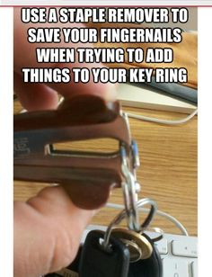 Solution to opening a tight key ring
