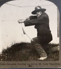 Geronimo Shooting an Arrow at the St. Louis World's Fair (1904)