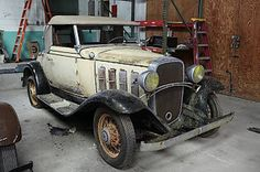 Chevrolet : Other Cabroilet 1932 Chevy Cabroilet  barn find - http://www.legendaryfind.com/carsforsale/chevrolet-other-cabroilet-1932-chevy-cabroilet-barn-find/
