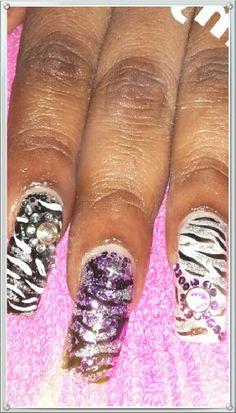 Acrylic printing nails