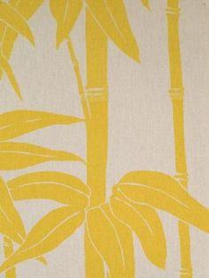 Ottoman in Japanese Bamboo - yellow - florence broadhurst fabrics.jpg
