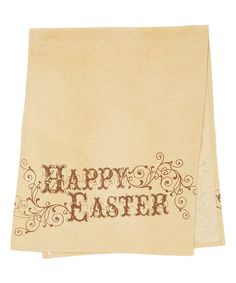 Loving this Tan Vintage Easter Table Runner on #zulily! #zulilyfinds