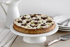 Chocolate, pistachio and coffee are such a great combination, and this tart makes each flavor shine. A short crust coffee pastry filled with pistachio cream, topped with chocolate truffles and coffee cream – all together create a beautiful and delicious tart. Coffee, Pistachio and Chocolate Tart For coffee crust: 150 grams all-purpose flour 100 grams …