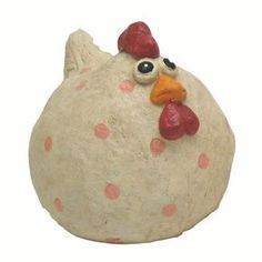HEEE! I don't know what my thing is with hens.....Craft Outlet Papier Mache Country Hen Collectible Figurine