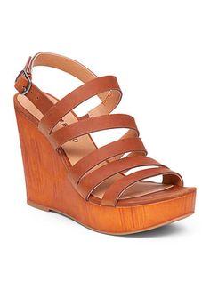 ad62b34f4b57 Lucky Brand Larinaa Faux Wood Wedge Sandal