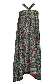 Women's Magic Wrap Skirt Maroon/ Green Premium Silk Sari ... https://www.amazon.com/dp/B01M1HRUFH/ref=cm_sw_r_pi_dp_x_pya-xb1PASV5J