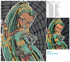 Nefera de Nile (Monster High) cross stitch pattern (click to view)