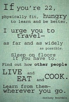 I love Anthony Bourdain. I watch his show just for his commentary. Funny and witty, his writing style is remarkable personable.