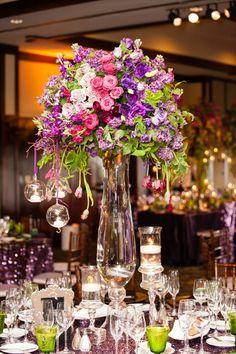 La Tavola Fine Linen Rental: New York Plum   Photography: Pam Scott Photography, Event Planning & Design: Crown Weddings, Floral Design: Splendid Sentiments