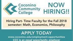 Coconino Community College/HR Class Display - Ad from 2018-07-25 https://cstu.io/723646