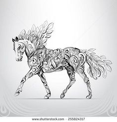 Horse in the ornament