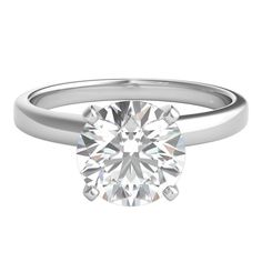 2 ct. Ultima Diamond Solitaire Engagement Ring in 14K White Gold