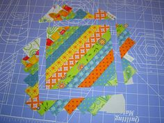 use up strips scraps---tho this shows with fabric can do same with paper