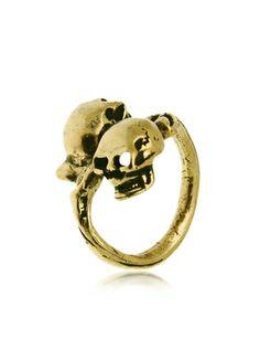 Alcozer & J Skull Brass Ring