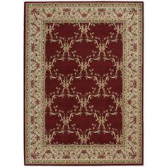 Ashton House Burgundy Wool Classic Motif Rug