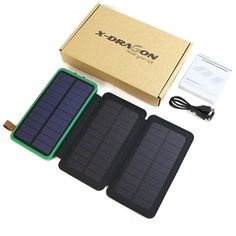X-DRAGON Solar Power Bank Outdoor Solar Charger External Battery for iPhone Samsung xiaomi Cell Phones Cell Phone Prices, Solar Charger, Solar Power, Mobiles, Banks, Computers, Bluetooth, Headphones, Happy Birthday