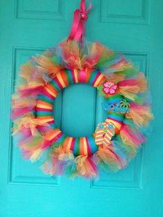 Tied tulle wreath
