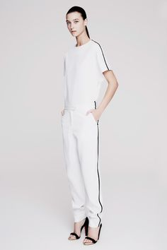 Josh Goot | Resort 2015 Collection | Style.com || optic white, just love!