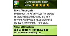 Everyone at City Park Physical Therapy was fantastic! Professional, caring and very...