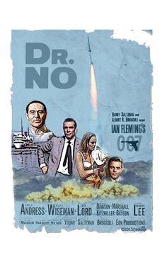 Dr No - James Bond movie. Artwork by jackiejr  #jamesbond #007
