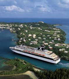 One of the cruise ships I worked on, when it was docked in Bermuda. What a lovely island...Gotta love a place where they serve tea every afternoon - so civilized!