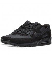 6098c63efa Air Max 90 Essential Total Original Black Trainer Outlet Latest Sneakers,  Sneakers Nike, Air