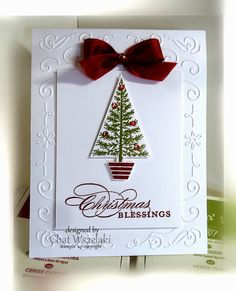 Oct 27, 2014 Me, My Stamps and I: Stampin' Up Festival of Trees, Merry Messages, Blendabilities, tree punch, Filigree frame EF