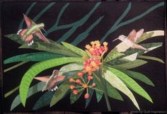 Quilt Inspiration: Blooming Beauties: Artistic flower quilts   Milkweed and Hummingbirds by Sara Sharp