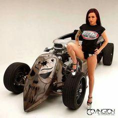 Rat Rod Girls, Car Girls, Pin Up Girls, Rat Rods, Sexy Cars, Hot Cars, Linda Vaughn, Custom Cars, Rats