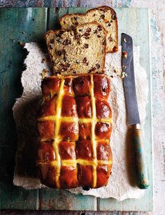You can fit *even* more butter on your hot cross bun if it's in loaf form - like this beauty from Edd Kimber.