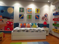 Robot Toddler room - contemporary - Kids - Other Metro - Leire Sol García Asch