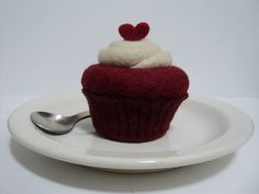 Red Velvet with cream cheese frosting heart topping by WoldyWorld, $38.00