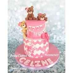 Teddy bear baby shower Cakes - Cake by BettyCakesEbthal Little Girl Cakes, Little Girls, Teddy Bear Cakes, Teddy Bears, Teddy Bear Baby Shower, Cupcake Cakes, Cupcakes, Love Cake, Girl Shower