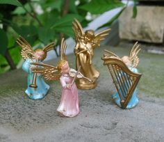 Vintage Christmas Ornaments Angels Musicians by MrFilthyRotten, $8.00
