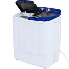 Best Choice Products Portable Compact Mini Twin Tub Laundry Washing Machine and Spin Cycle w/ Hose, Load Capacity Washing Machine Reviews, Mini Washing Machine, Washing Machines, Best Electric Dryer, Mini Washer And Dryer, Washer Machine, Steam Showers Bathroom, Rv Bathroom, Home