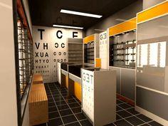 Diseño interior optica. Diseñador Ignacio Stesina.