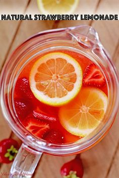 This Strawberry Lemonade is delicious, refreshing, and satisfying. It's made out of the best ingredients possible; freshly squeezed organic lemon juice and homegrown strawberries, which makes it taste incredible! #naturalstrawberrylemonade #organicingredients #natural #valyastasteofhome | www.valyastasteofhome.com Drink Me, Strawberry Lemonade, Taste Of Home, Holiday Recipes, Main Dishes, Beverages, Appetizers, Tasty, The Incredibles