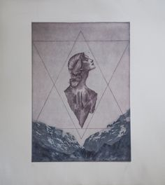Calcografia a buril sobre papel superalfa. 37x38cm. 2015. Elisa de la Torre
