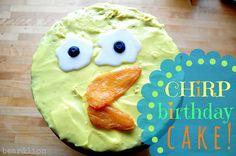 bears 5th birthday :: the chirp cake