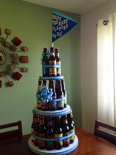 Ways To Demonstrate Your Passionate Love For Beer birthday beer cake. 30 different craft beers.he loved birthday beer cake. 30 different craft beers.he loved it! Dad Birthday Cakes, 30th Birthday Parties, Birthday Beer, Beer Bottle Cake, Beer Bottles, Craft Beer Gifts, Craft Bier, Passionate Love, Festa Party