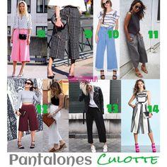 despues de haber visto los 7 primeros looks ahora venimos con 7 ideas más de como llevar los pantalones Culotte Lee sobre como llevarlos haciendo CLICK en la imagen